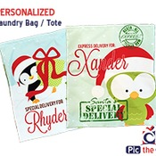 "Personalized Large Bag 21.5""x25"" with Drawstring Closure - Santa Sack, Gift Bag or Laundry Bag"