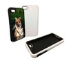 Personalized Picture iPhone Case 4/4S - Protective Rubber Inner Sleeve Black or White