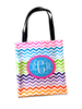 Personalized Tote Bag 14x16 with Colored Handles