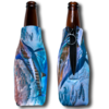 Personalized Bottle Koozie with Zipper - MADE in USA Full Imprint includes Bottom Imprint