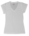 (All Over) Ladies V-Neck Fashion Fit T-Shirt - Size: S
