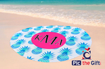 "Personalized Round Beach Towel - 60"" Round - Single Sided"
