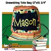 "Custom Drawstring Back Sack - 12"" x 15.75"""