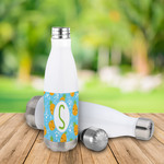 Custom 500mL Water Bottle - White Insulated Steel Thermal Water Bottle