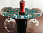 Double Wine Glass Hardboard Single Sided Holder