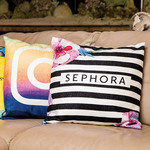 "Personalized Chenille Throw Pillow Case - 18"" x 18"" Envelope Closure Custom Throw Pillow Cover"