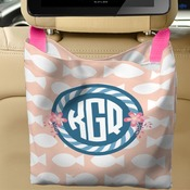 Personalized Car Back Seat Bag - 10 inch by 10 inch