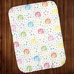 "Personalized Lightweight Baby Blanket - 28"" x 38"" Jersey Baby Swaddling Blanket"