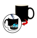 Personalized Color Changing Photo Mug - Black 11 oz.