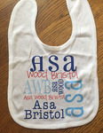 Personalized Baby Bib - Velcro Closure full imprint area