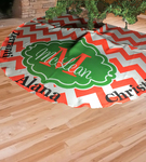 Personalized Christmas Tree Skirt - 58 inch Round with 5 inch opening and Velcro Closure