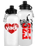 Personalized Water Bottle with Sip Top - White Water Bottle - FULL WRAP