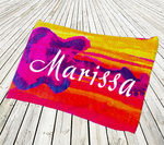 "Oversized Standard Personalized Beach Towel - 35"" x 60"" Beach Towel"