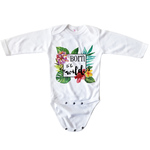 Baby Long-Sleeve Bodysuit - All-Over Print Onesie 0-3 Months