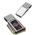 Personalized Money Clip - Silver Wallet Clip Card Holder .62x1.06
