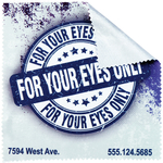"Custom Eyeglass Cleaning Cloth - 6"" x 6"" Microfiber Photo Cloth"