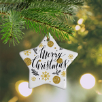 "Personalized Holiday Ornament - Ceramic 3"" Star"