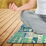 "Personalized Yoga Fitness Mat - 24"" x 68"" Custom Printed Exercise Mat"