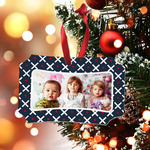 "Personalized Photo Ornament 3.95""x2.75"" Berlin - 2 Sided - Includes Red Ribbon"