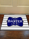 Custom Floor Mat 18x24 - Durgan-Backed 20oz Loop with Black Edges Door Mat