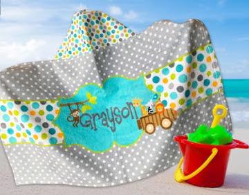 High Quality Personalized Beach Towels 30 X60 Soft Custom Beach
