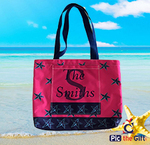 "Personalized Beach Bag Pocket Tote - Small 15""x12""x4"""