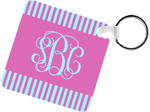 Personalized Square Metal Photo Key Chain - 2.25x2.25 Metal Double Sided