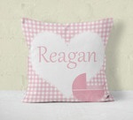 "Custom Throw Pillow 24"" x 24"" - Double-Sided Personalized Pillow with Zipper"