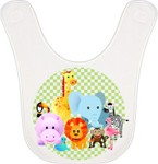 Personalized Vapor Fleece Baby Bib - Velcro Closure full imprint area