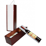 Personalized Wine Box - Wooden Wine Crate 13.5 x 3.75 x 3.75