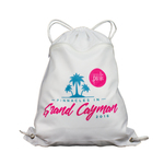 Personalized Drawstring Backpack - with Zipper Pocket on Front