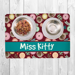 Custom Small Pet Placemat 10x16 Fabric Top with Neoprene Back
