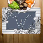 Custom Large Placemat 12x18 Fabric Top with Neoprene Back
