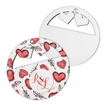 Holiday Hearts Custom Ornament - Single Side Hardboard Holiday Ornament