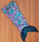 "Personalized Mermaid Blanket for Kids - 55"" Long"