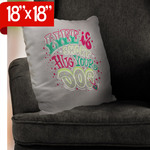 "Custom Burlap Personalized Pillow 18"" x 18"" - Double-Sided White Throw Pillow with Zipper"