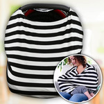 Personalized Nursing Cover - Car Seat Baby Canopy Wrap - Custom Jersey Nursing Baby Wrap