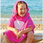 "Personalized Kids Hooded Beach Poncho - 24"" x 48"" Hooded Towel Poncho for Kids"