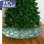 "Personalized Christmas Tree Skirt - 44"" Burlap Custom Tree Skirt"