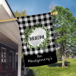"Premium Custom Single-Sided Medium House Flag - FLAG ONLY, 18"" x 27"" Blackout"