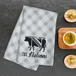 "Personalized Waffle Weave Kitchen Hand Towel - 16"" x 25"""