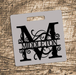 Personalized Golf Bag Tag - 3.5x3.5 Double sided Square Bag Tag