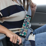 Personalized Seat Belt Protector Pad - Neoprene Velcro Wrap
