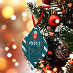 "Personalized Ornament 2.75"" x 4.1"" Tapered Ornament - 2-Sided Metal Custom Holiday Ornament"