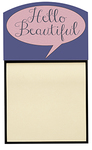 "Personalized Sticky Note Holder - 3.125""x2.125"" image area - Holds 3 inch Post It Note"