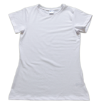 (Small Print) Ladies Slim Fit Short Sleeve T-Shirt - Size: M