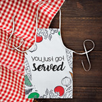 "Square Bottom Custom Apron - 19"" x 29"" Chef Apron"