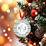 Personalized Metal Ornament 3 inch Round - Single-sided - includes ribbon