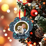 "Personalized Ornament Paw 3.5"" x 3.5"" - 2-sided Metal Custom Holiday Ornament"