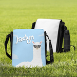 "Personalized Messenger Bag - Small 8.5"" x 8.5"" Custom Tote Bag"